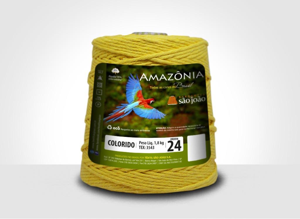 Barbantes para tricô e crochê Barbante Amazônia 24 Fios Amarelo Ouro