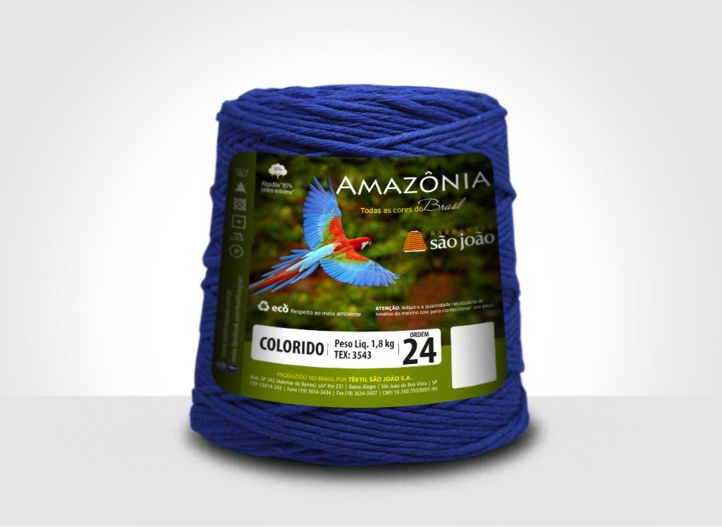 Barbantes para tricô e crochê Barbante Amazônia 24 Fios Azul Royal