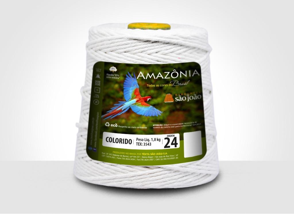 Barbantes para tricô e crochê Barbante Amazônia 24 Fios Branco