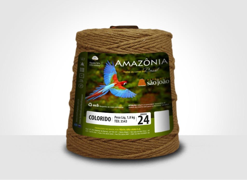 Barbantes para tricô e crochê Barbante Amazônia 24 Fios Caramelo