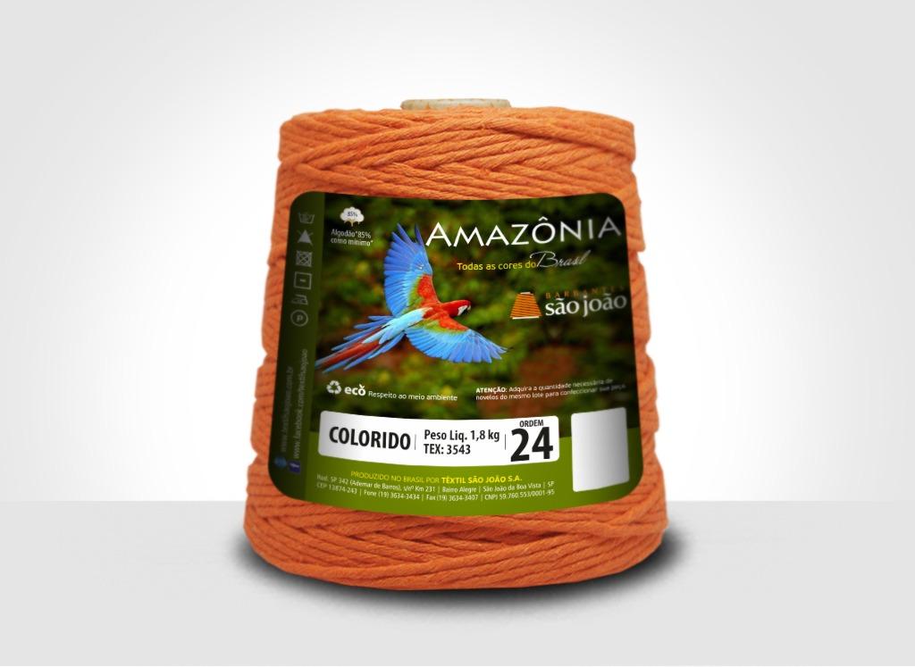 Barbantes para tricô e crochê Barbante Amazônia 24 Fios Laranja