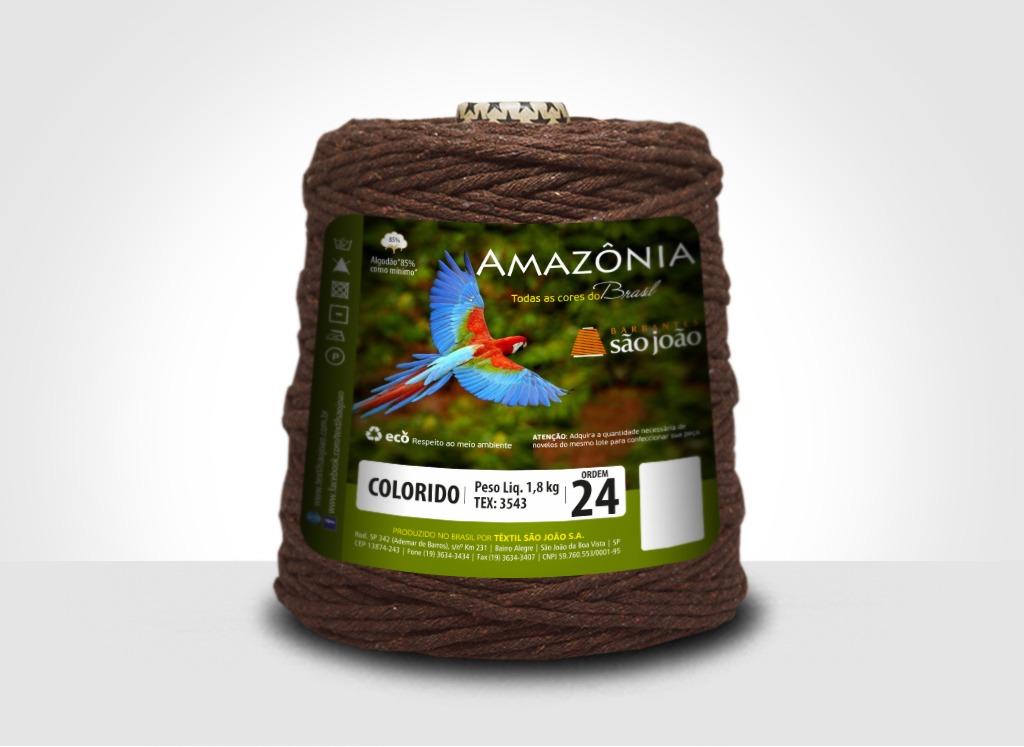 Barbantes para tricô e crochê Barbante Amazônia 24 Fios Marrom