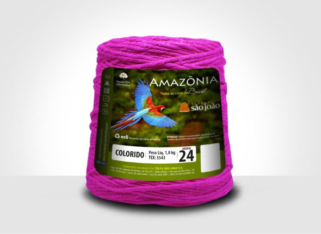 Barbantes para tricô e crochê Barbante Amazônia 24 Fios Pink