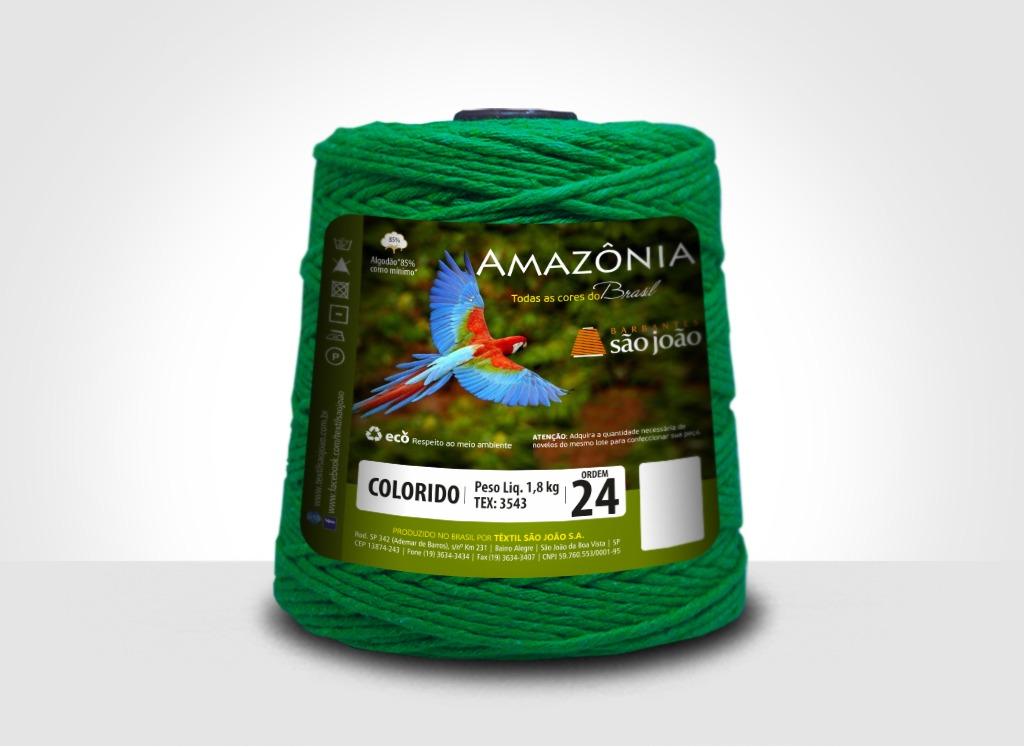 Barbantes para tricô e crochê Barbante Amazônia 24 Fios Verde Bandeira