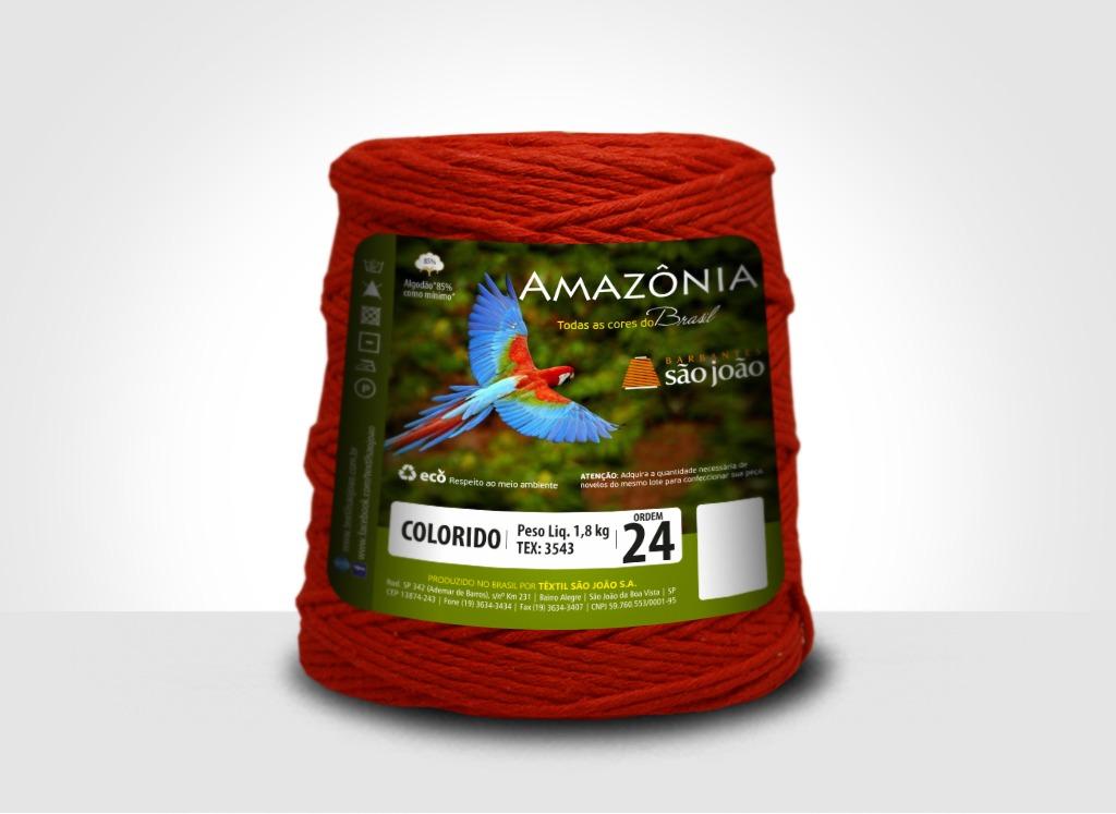 Barbantes para tricô e crochê Barbante Amazônia 24 Fios Vermelho