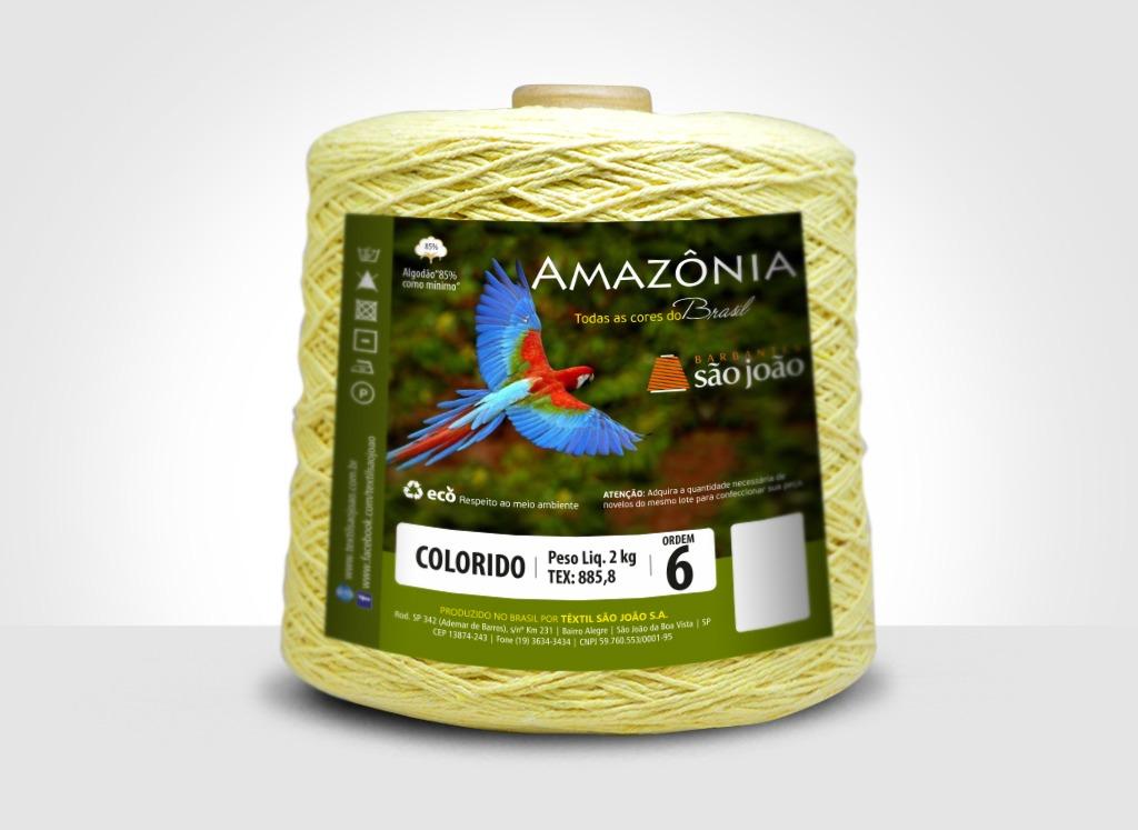 Barbantes para tricô e crochê Barbante Amazônia 2kg Amarelo Bebê