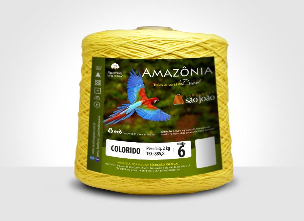 Barbantes para tricô e crochê Barbante Amazônia 2kg Amarelo Ovo