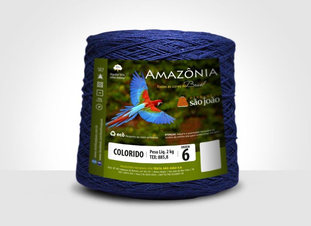 Barbantes para tricô e crochê Barbante Amazônia 2kg Azul Marinho