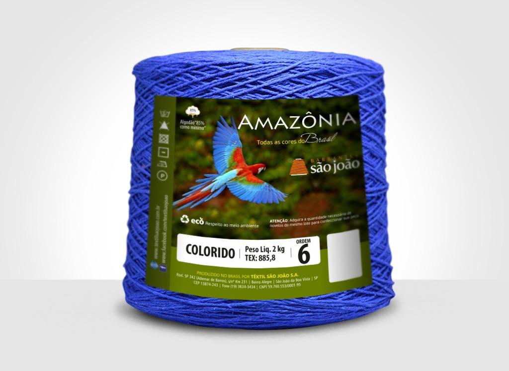 Barbantes para tricô e crochê Barbante Amazônia 2kg Azul Royal