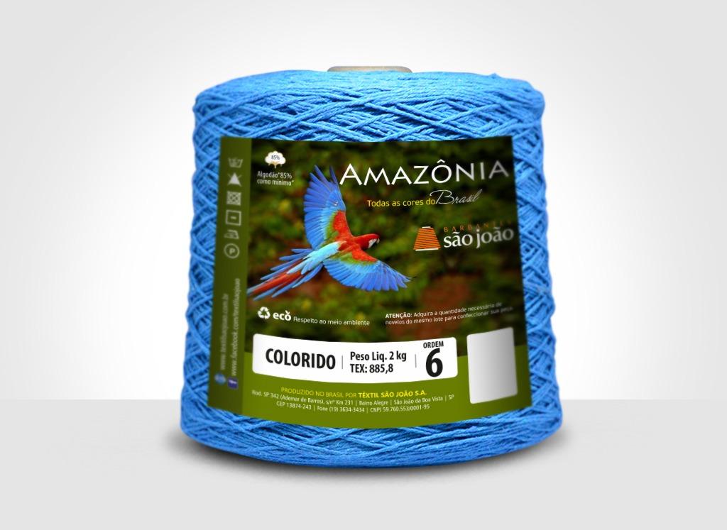 Barbantes para tricô e crochê Barbante Amazônia 2kg Azul Turquesa