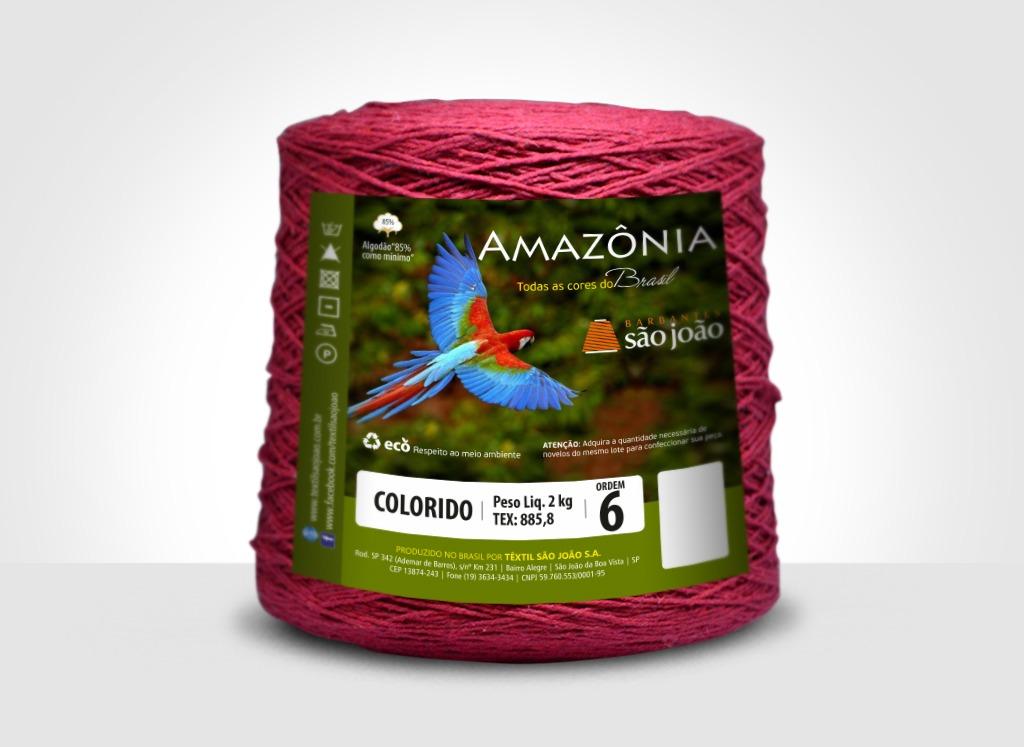 Barbantes para tricô e crochê Barbante Amazônia 2kg Bordô