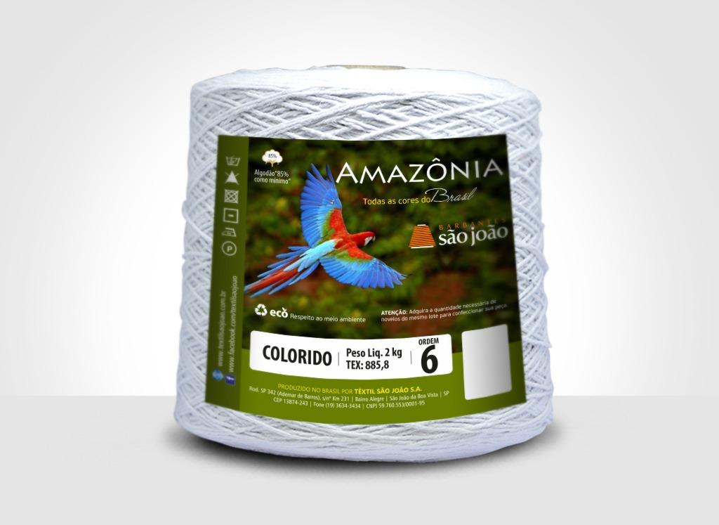 Barbantes para tricô e crochê Barbante Amazônia 2kg Branco