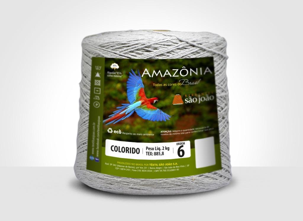 Barbantes para tricô e crochê Barbante Amazônia 2kg Caqui