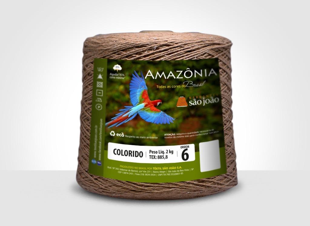 Barbantes para tricô e crochê Barbante Amazônia 2kg Caramelo