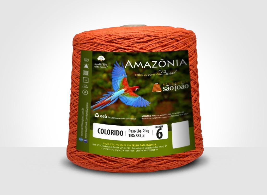 Barbantes para tricô e crochê Barbante Amazônia 2kg Cenoura