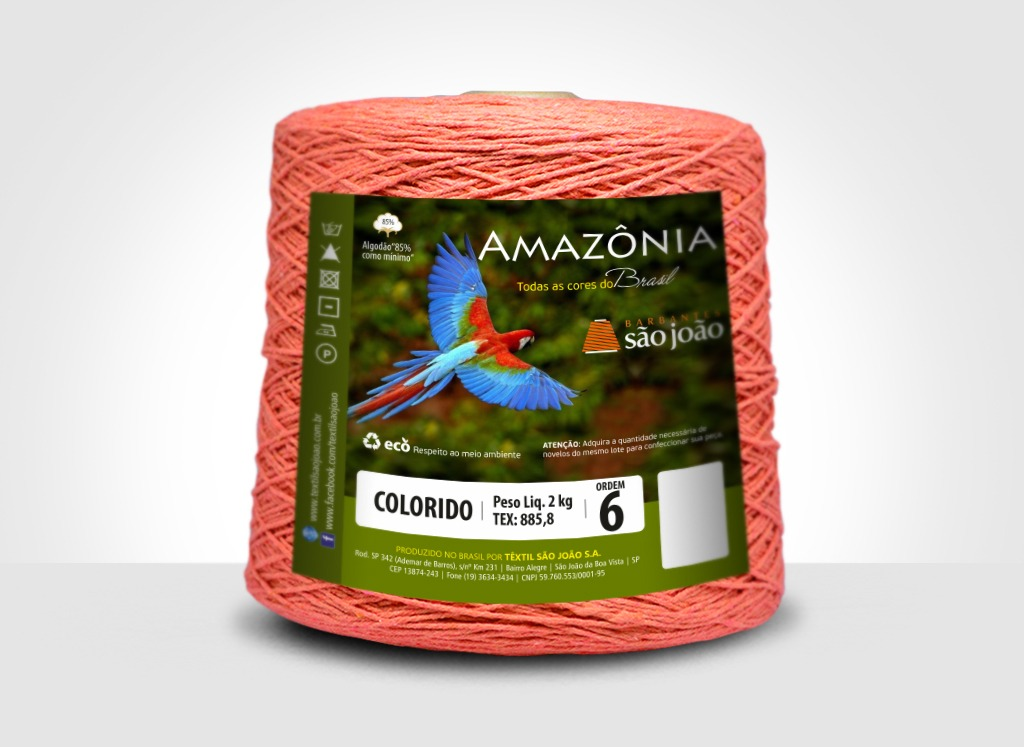 Barbantes para tricô e crochê Barbante Amazônia 2kg Laranja