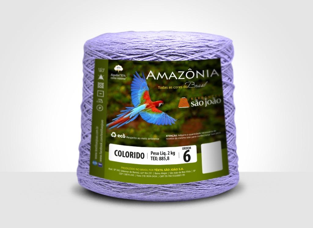 Barbantes para tricô e crochê Barbante Amazônia 2kg Lilás