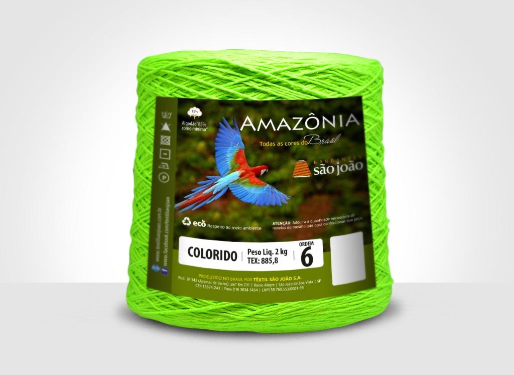Barbantes para tricô e crochê Barbante Amazônia 2kg Limão Neon