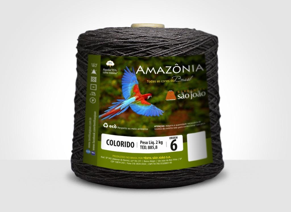 Barbantes para tricô e crochê Barbante Amazônia 2kg Marrom