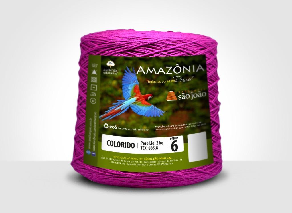 Barbantes para tricô e crochê Barbante Amazônia 2kg Morango