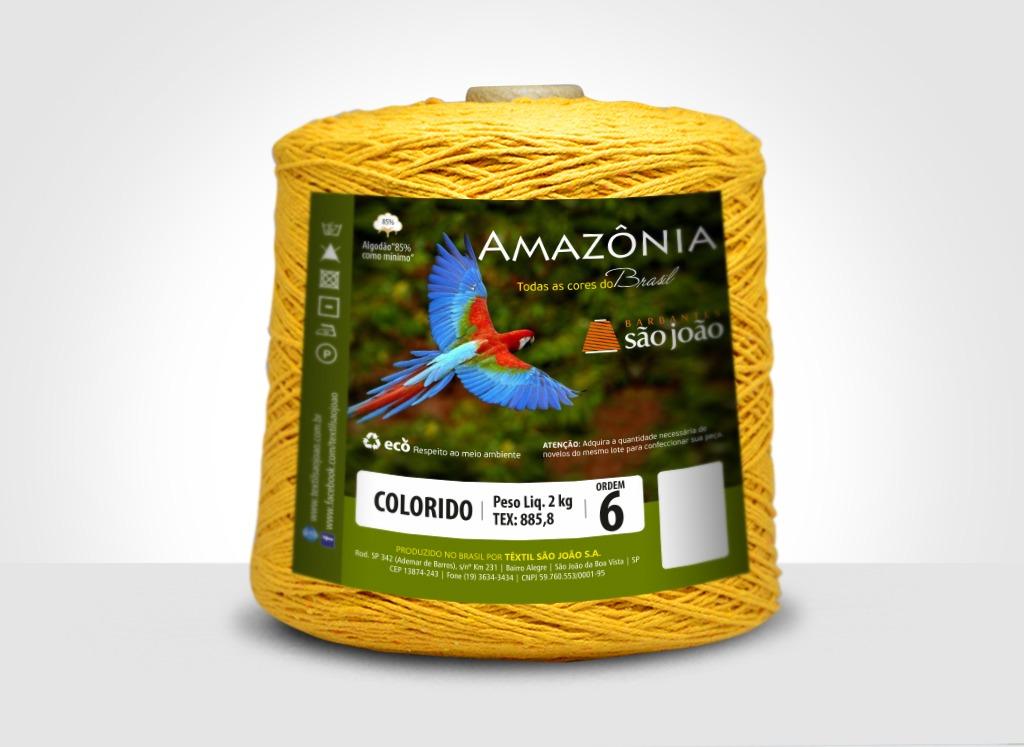 Barbantes para tricô e crochê Barbante Amazônia 2kg Mostarda