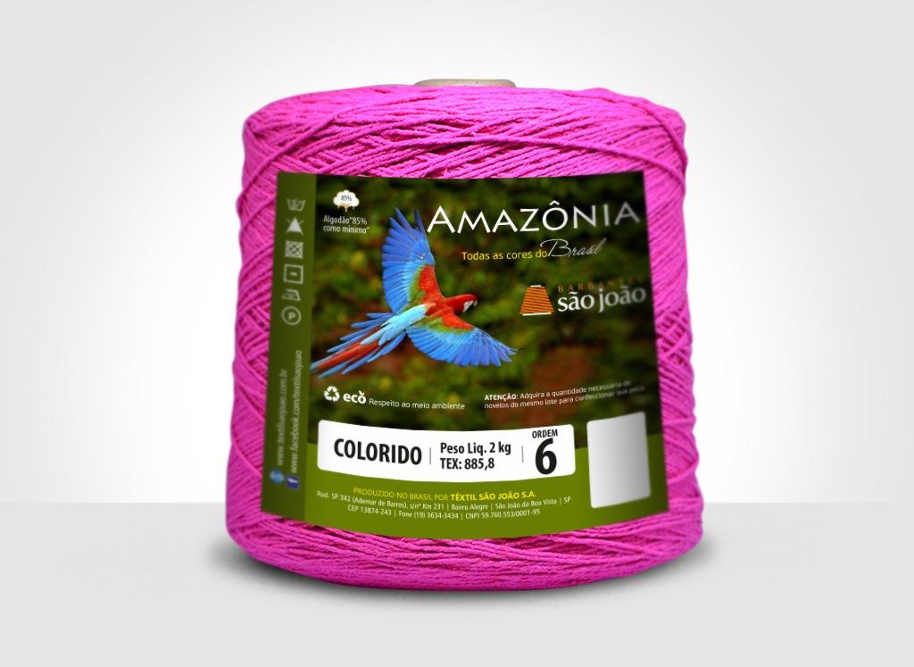 Barbantes para tricô e crochê Barbante Amazônia 2kg Pink
