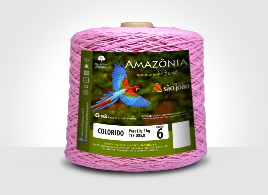 Barbantes para tricô e crochê Barbante Amazônia 2kg Rosa Claro
