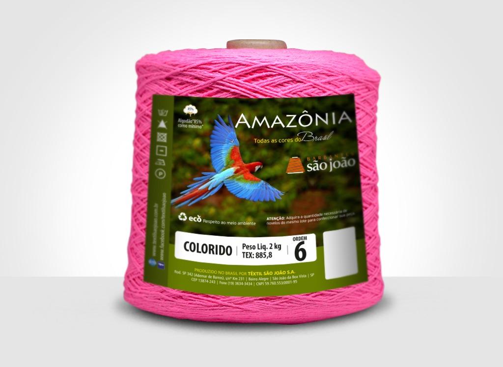Barbantes para tricô e crochê Barbante Amazônia 2kg Rosa Neon