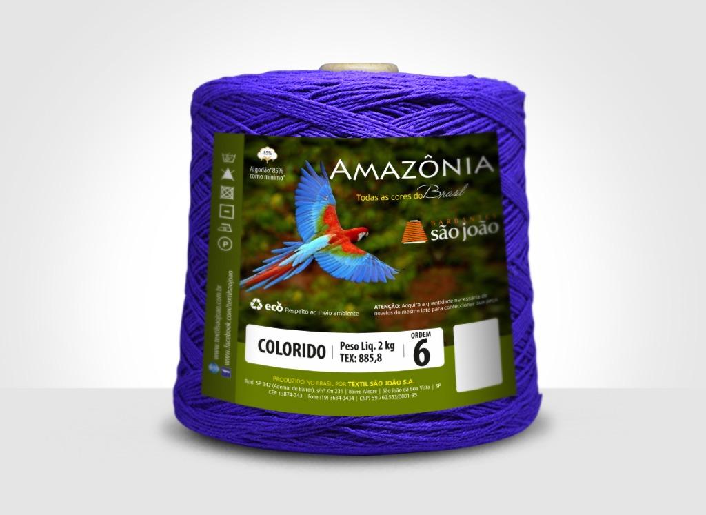 Barbantes para tricô e crochê Barbante Amazônia 2kg Roxo