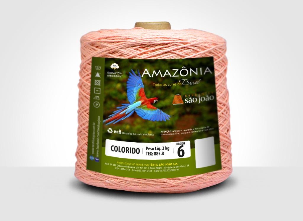 Barbantes para tricô e crochê Barbante Amazônia 2kg Salmão