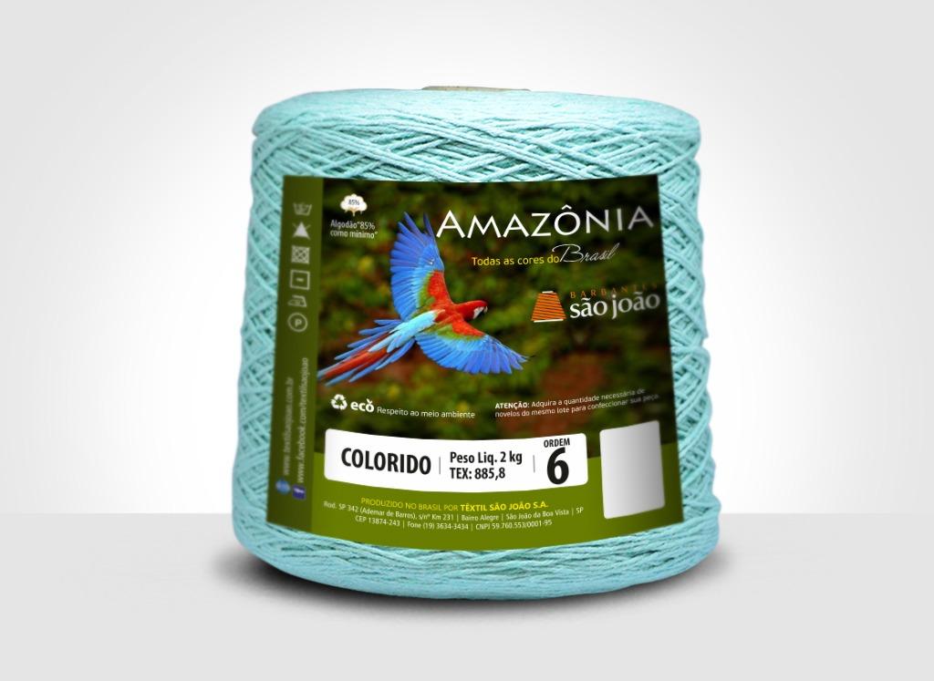Barbantes para tricô e crochê Barbante Amazônia 2kg Verde Água