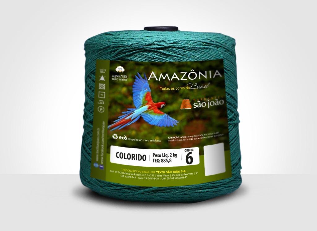 Barbantes para tricô e crochê Barbante Amazônia 2kg Verde Bandeira