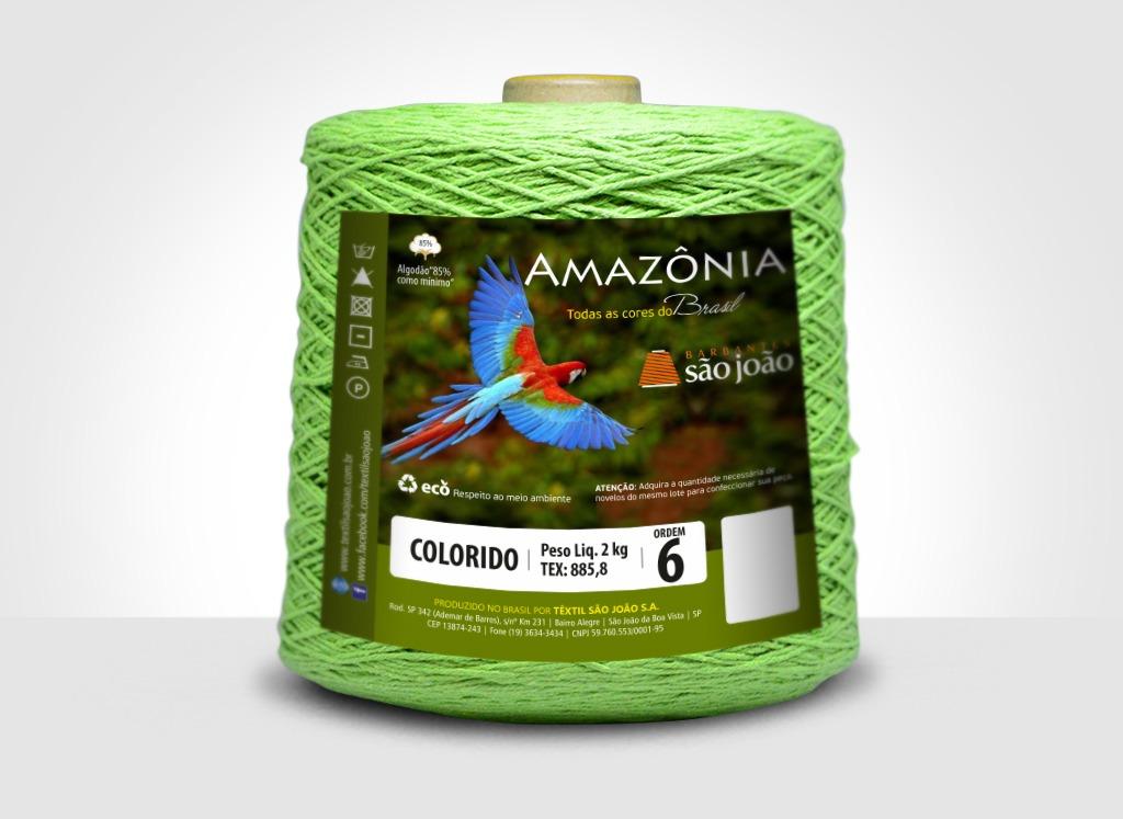 Barbantes para tricô e crochê Barbante Amazônia 2kg Verde Limão