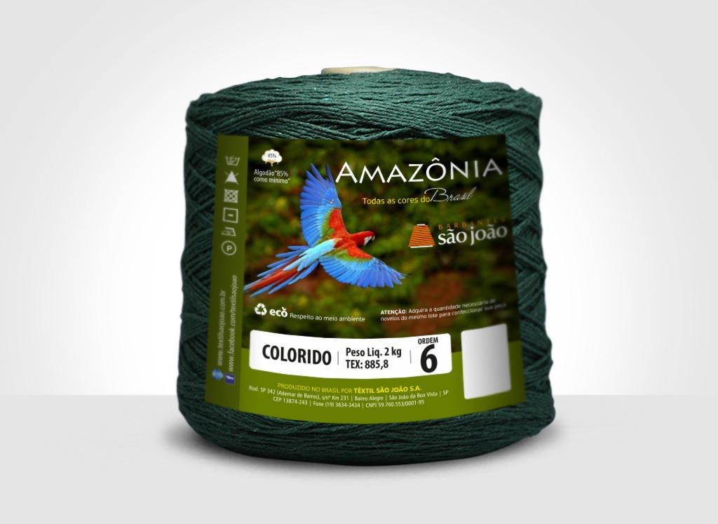 Barbantes para tricô e crochê Barbante Amazônia 2kg Verde Musgo