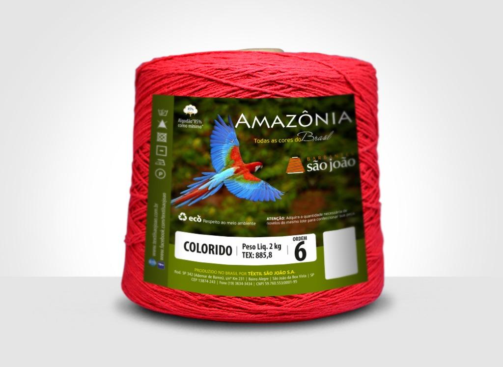 Barbantes para tricô e crochê Barbante Amazônia 2kg Vermelho