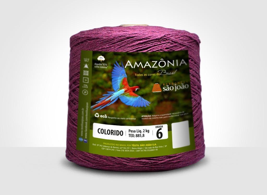 Barbantes para tricô e crochê Barbante Amazônia 2kg Vinho