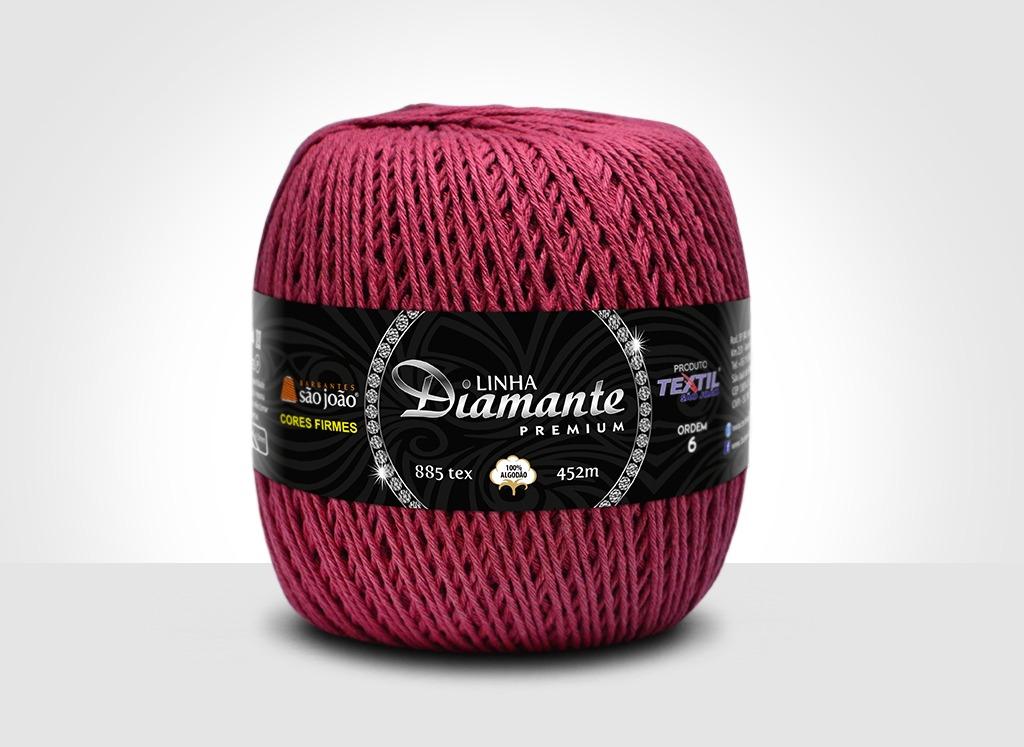 Barbantes para tricô e crochê Linha Diamante Premium Bordô