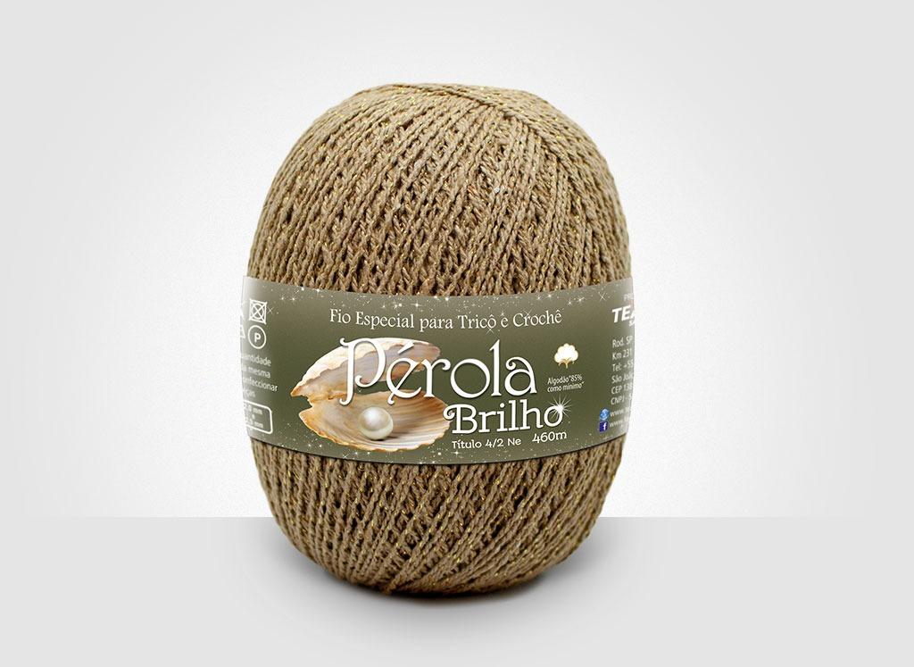 Linhas para tricô e crochê Linha Pérola Brilho Cores Douradas 01