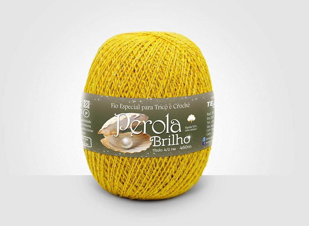 Linhas para tricô e crochê Linha Pérola Brilho Cores Douradas 14