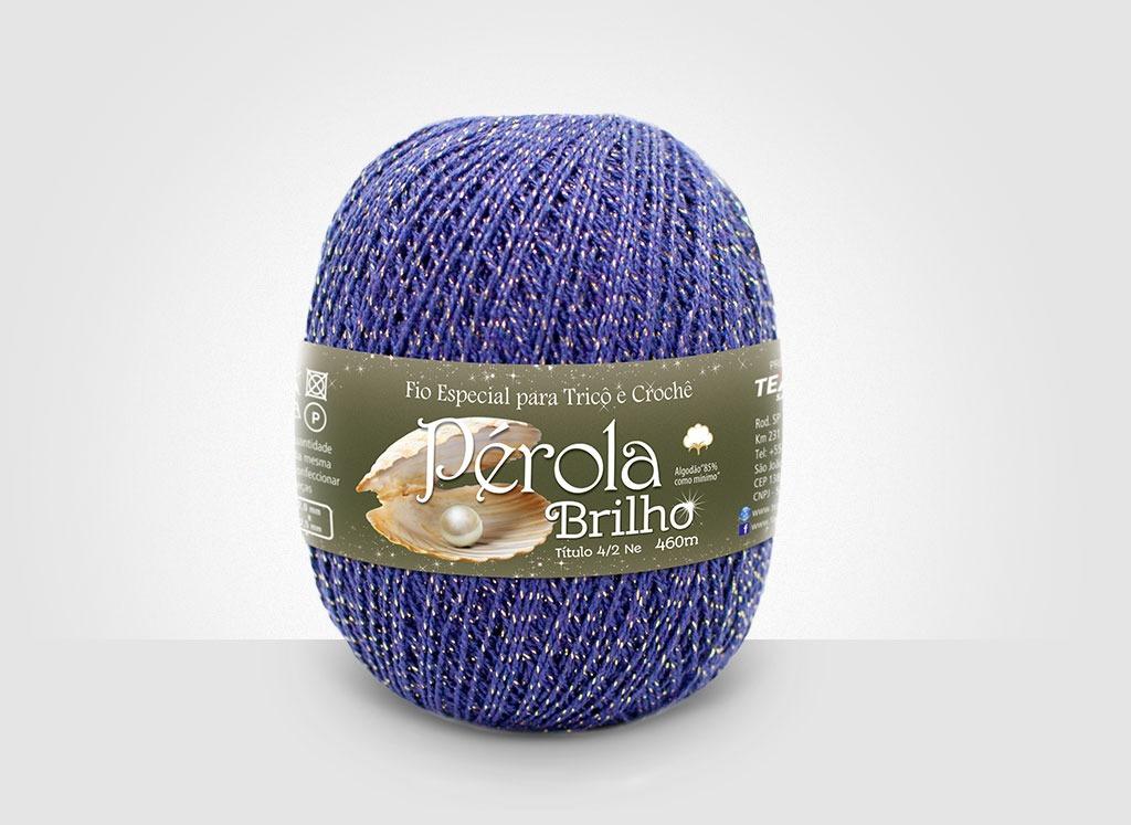 Linhas para tricô e crochê Linha Pérola Brilho Cores Douradas 28