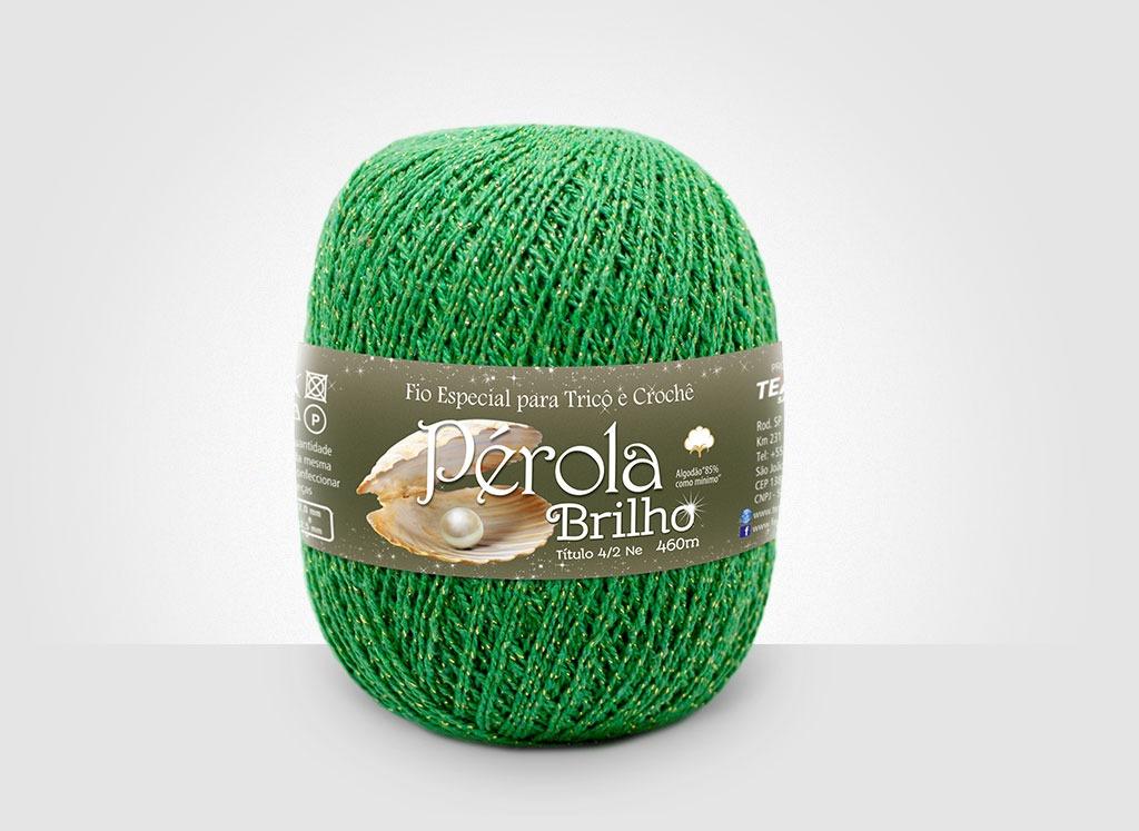 Linhas para tricô e crochê Linha Pérola Brilho Cores Douradas 30
