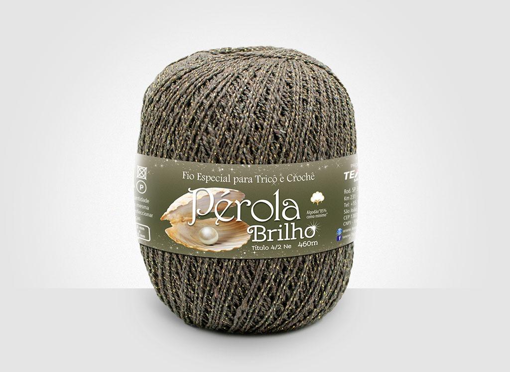 Linhas para tricô e crochê Linha Pérola Brilho Cores Douradas 31