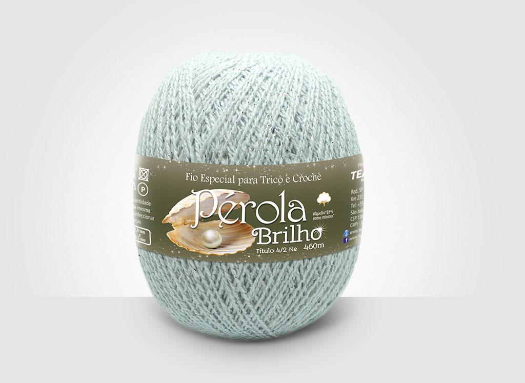 Linhas para tricô e crochê Linha Pérola Brilho Cores Prateadas 08