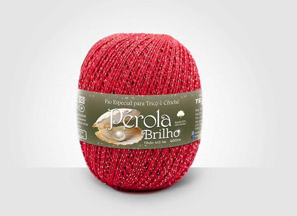 Linhas para tricô e crochê Linha Pérola Brilho Cores Prateadas 13