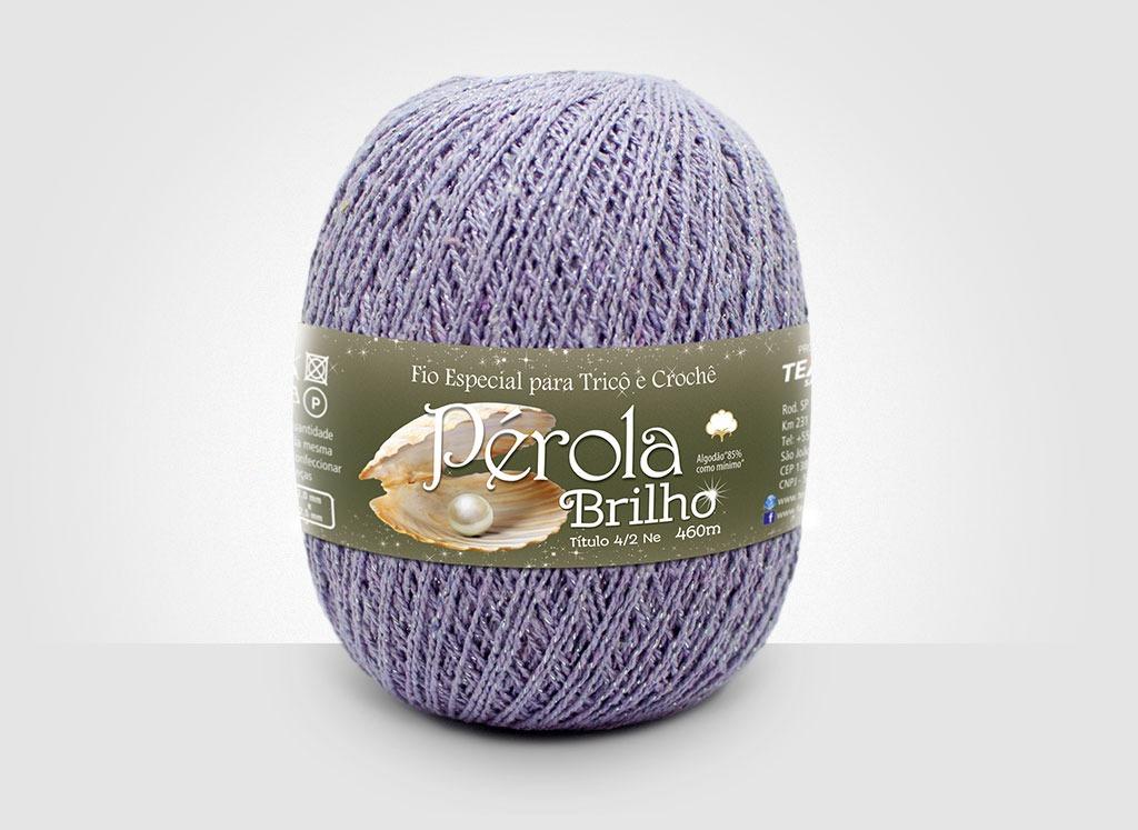 Linhas para tricô e crochê Linha Pérola Brilho Cores Prateadas 18