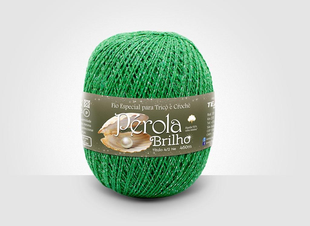 Linhas para tricô e crochê Linha Pérola Brilho Cores Prateadas 30