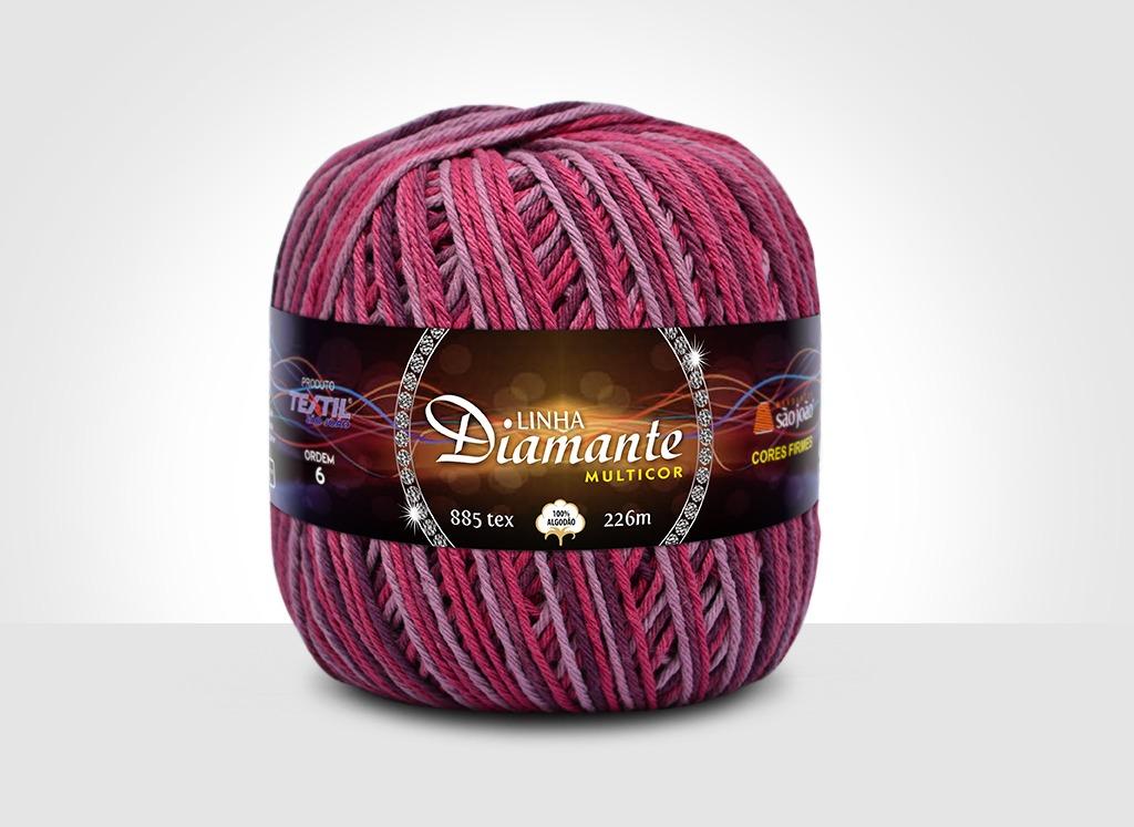 Barbantes para tricô e crochê Linha Diamante Multicor 1