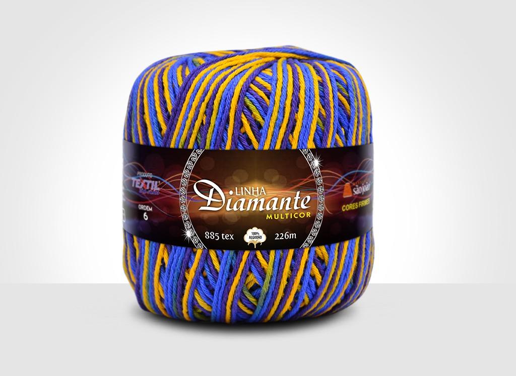 Barbantes para tricô e crochê Linha Diamante Multicor 11