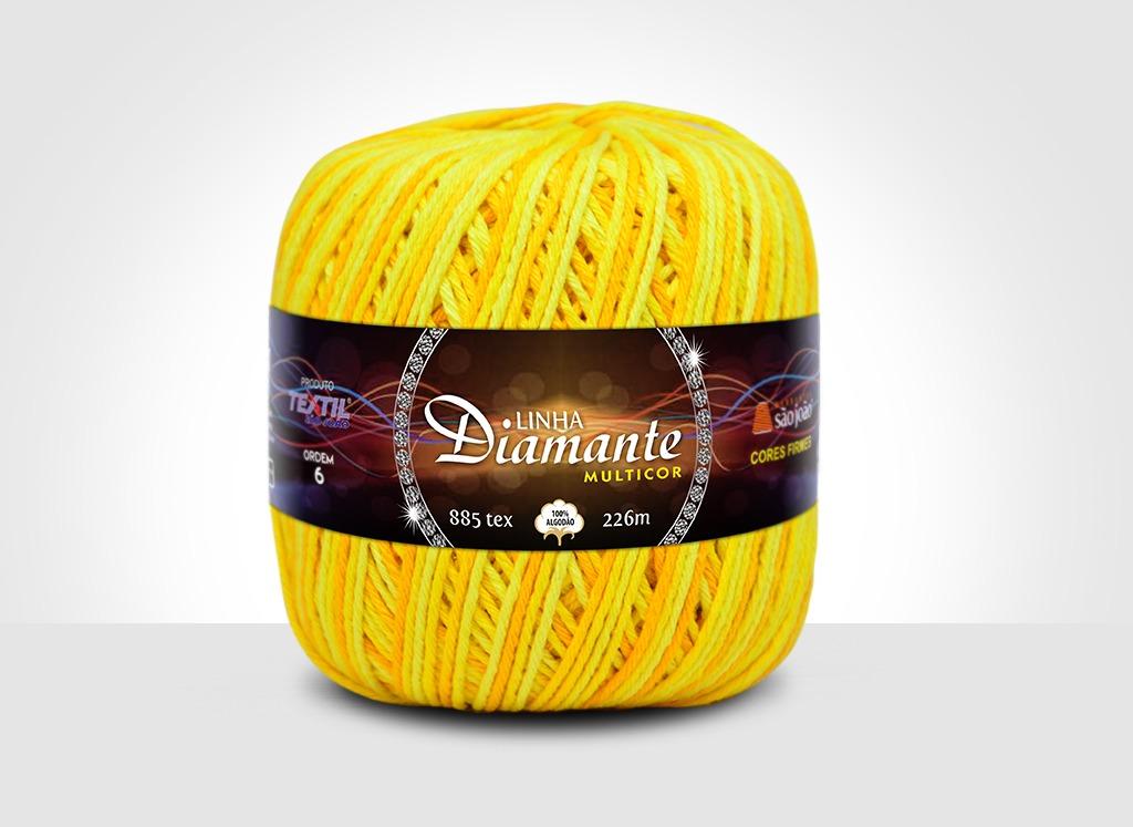 Barbantes para tricô e crochê Linha Diamante Multicor 14