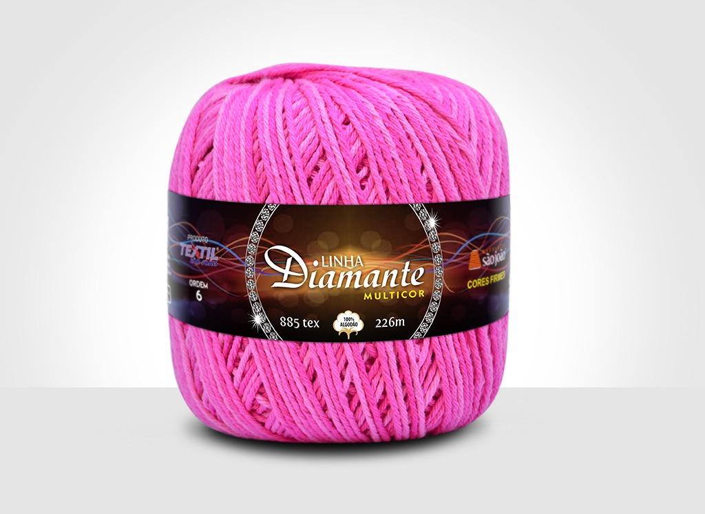 Barbantes para tricô e crochê Linha Diamante Multicor 16